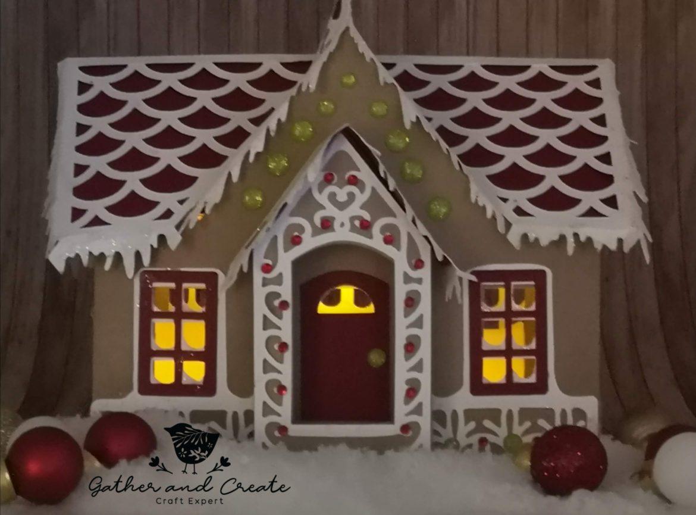 Cricut Maker Gingerbread house