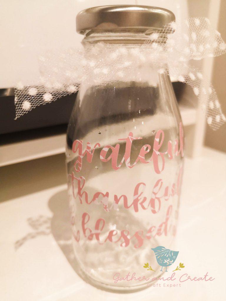 Vinyl decorated milk bottle