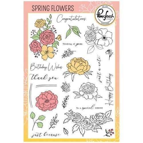 Pinkfresh Studio Spring Flowers stamp set.