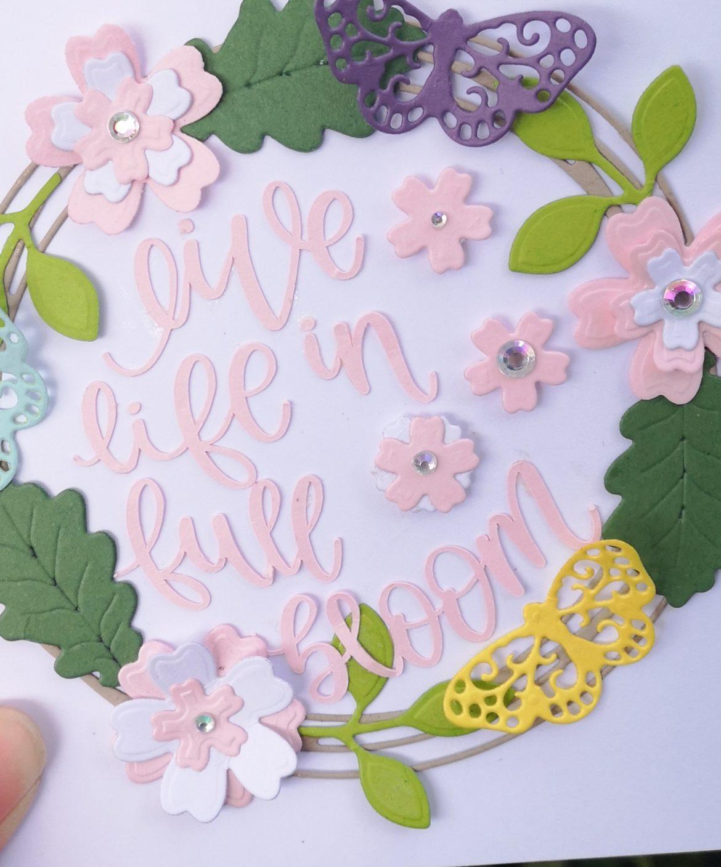 Make this pretty card using your card scraps! #scrapbuster #HOTP #Cricut