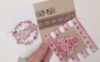 3 Christmas Cards using FREE Sara Davies Stamps and die!
