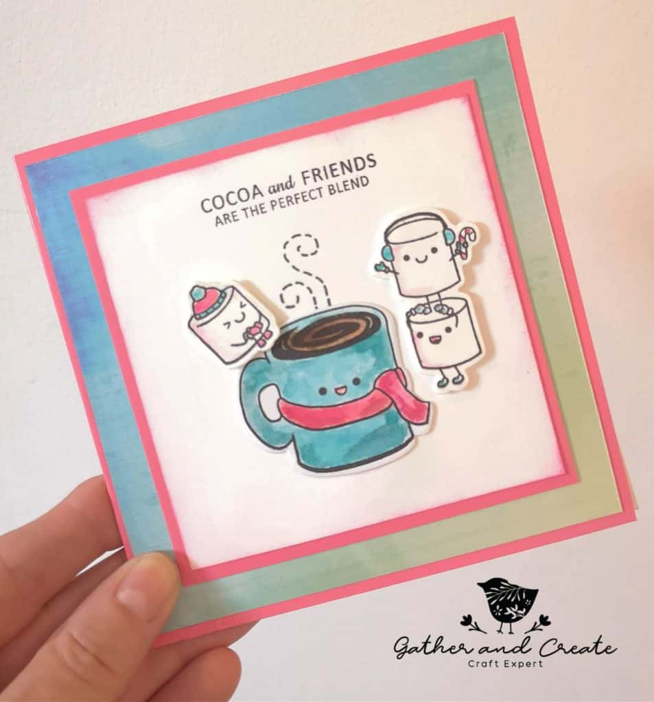 Sweetpea Mugs & Kisses card