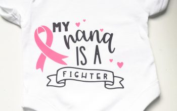 Cricut Maker Breast Cancer Awareness month project.