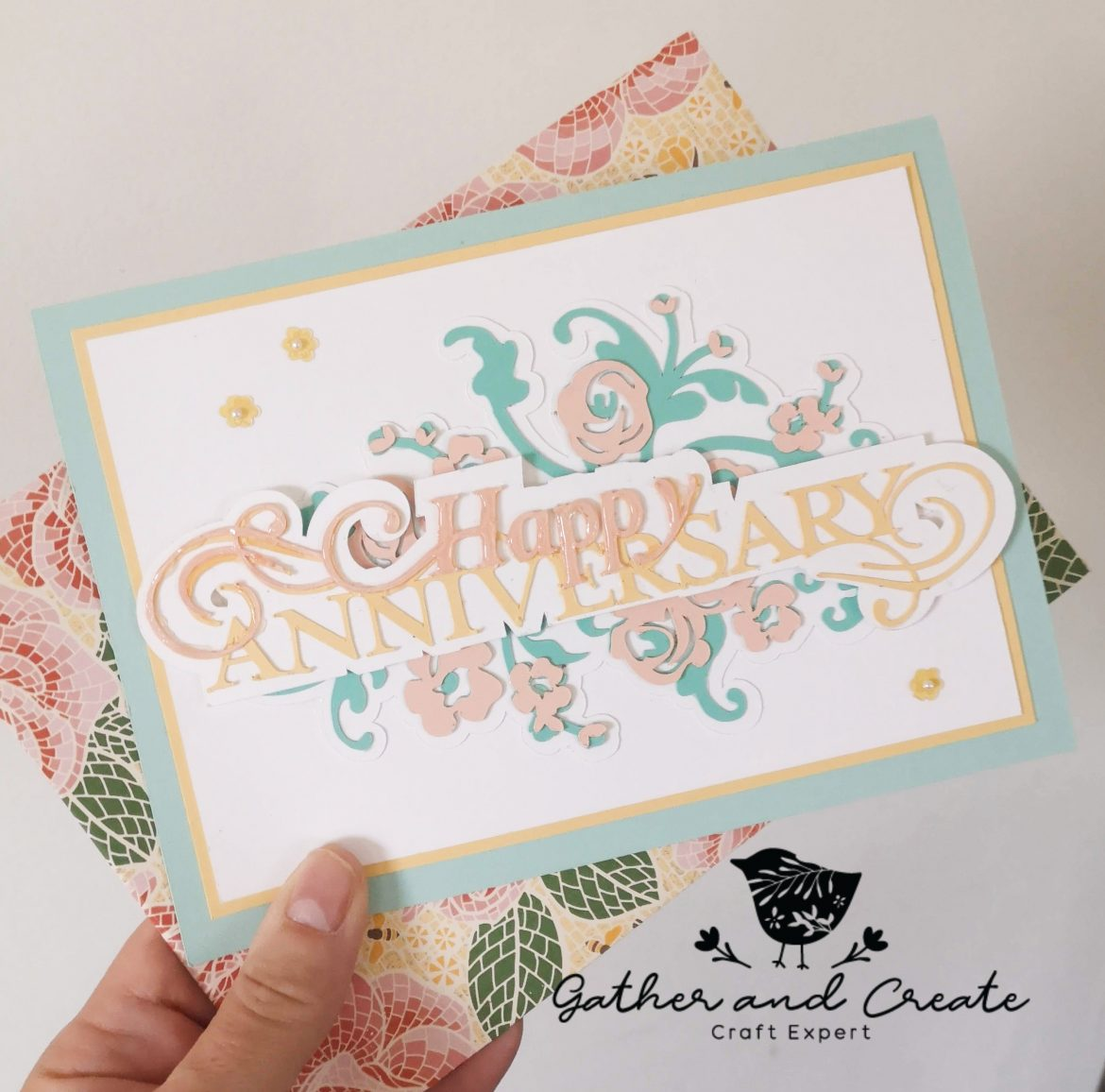 Wedding Anniversary Card using the Cricut Maker | Gather and Create