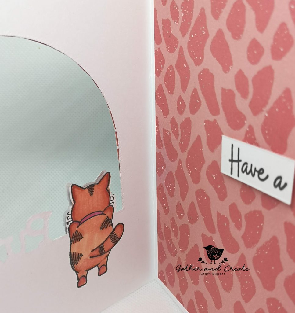 Crafters Companion Gemini Peek-A-Boo stamp and dies cat image