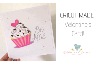 Valentine's card with cricut