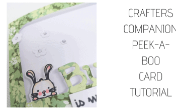 Crafter's Companion Peek-a-Boo Card Tutorial #2 – Bunny