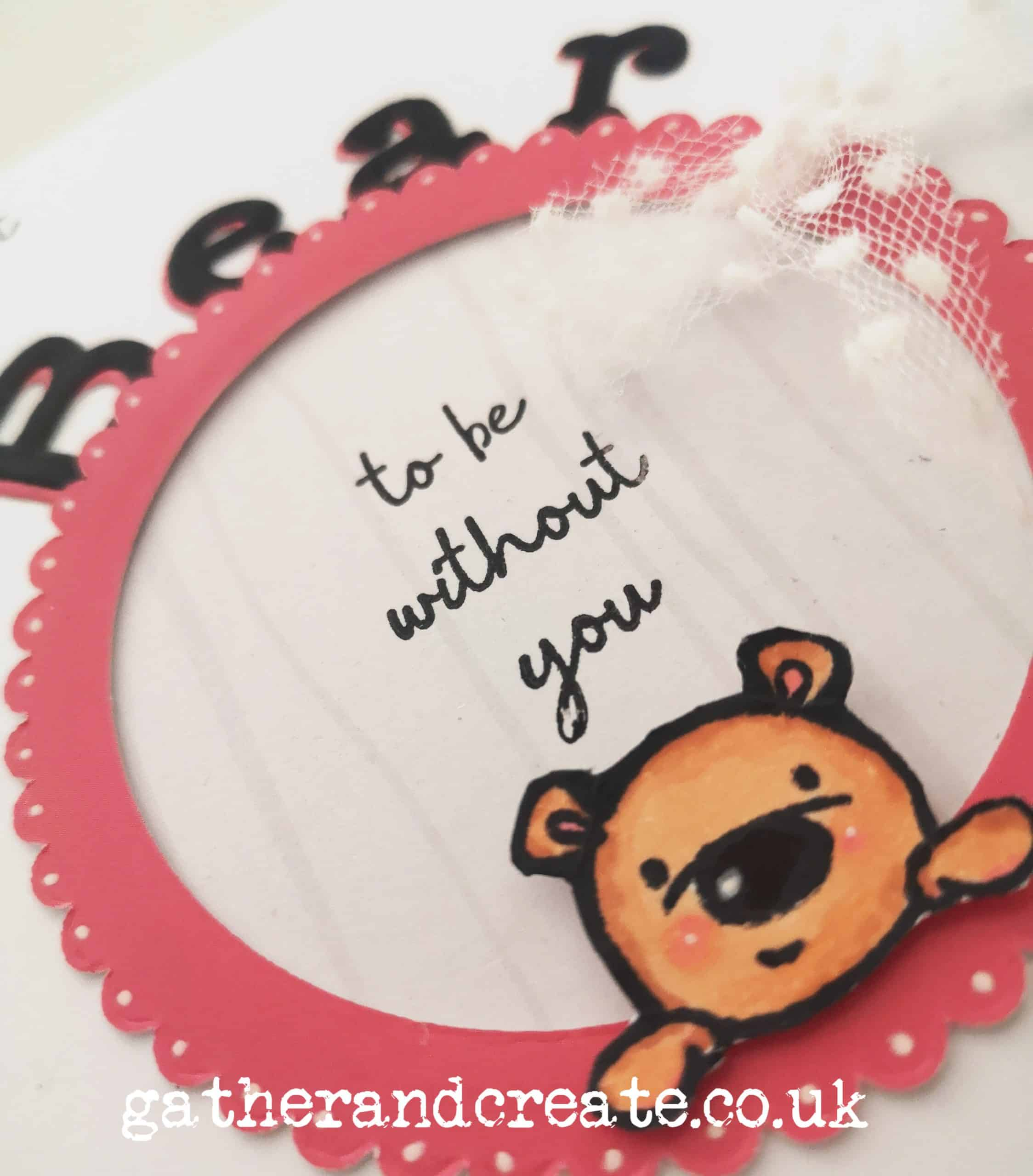 Crafter's Companion Gemini Peek-a-Boo Stamps and dies Tutorial #3 Bear