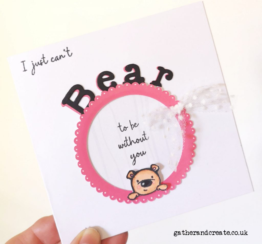 How adorable is this little bear?? Learn how to make this cute card using Crafter's Companion stamps and dies. #crafterscompanion #youtube #cardmaking