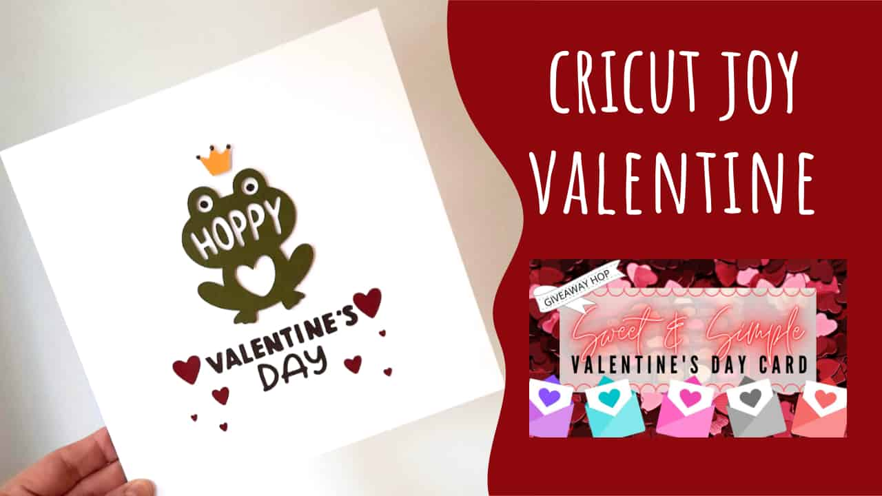 CAS Cricut Valentine's Card Video Hop