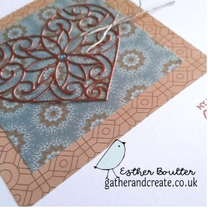 Heat embossing with a Crafter's Companion die