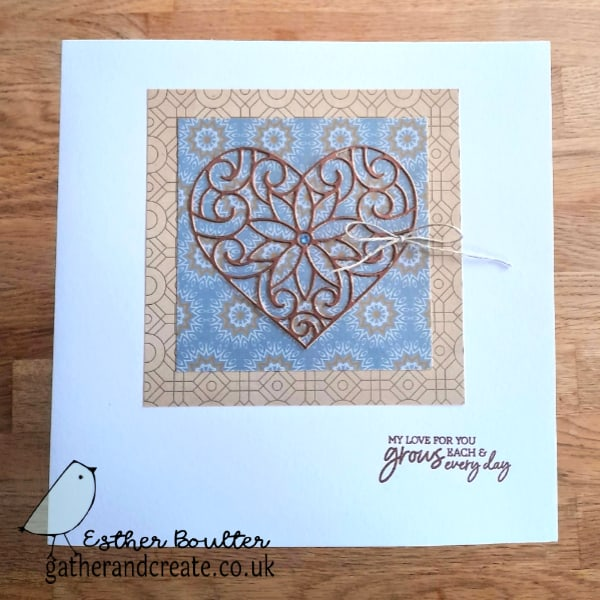 Crafter's  Companion Decorative Heart Die, Crafter's Companion tutorial, Heat embossing Tutorial, How to heat emboss, Brutus Monroe embossing powder