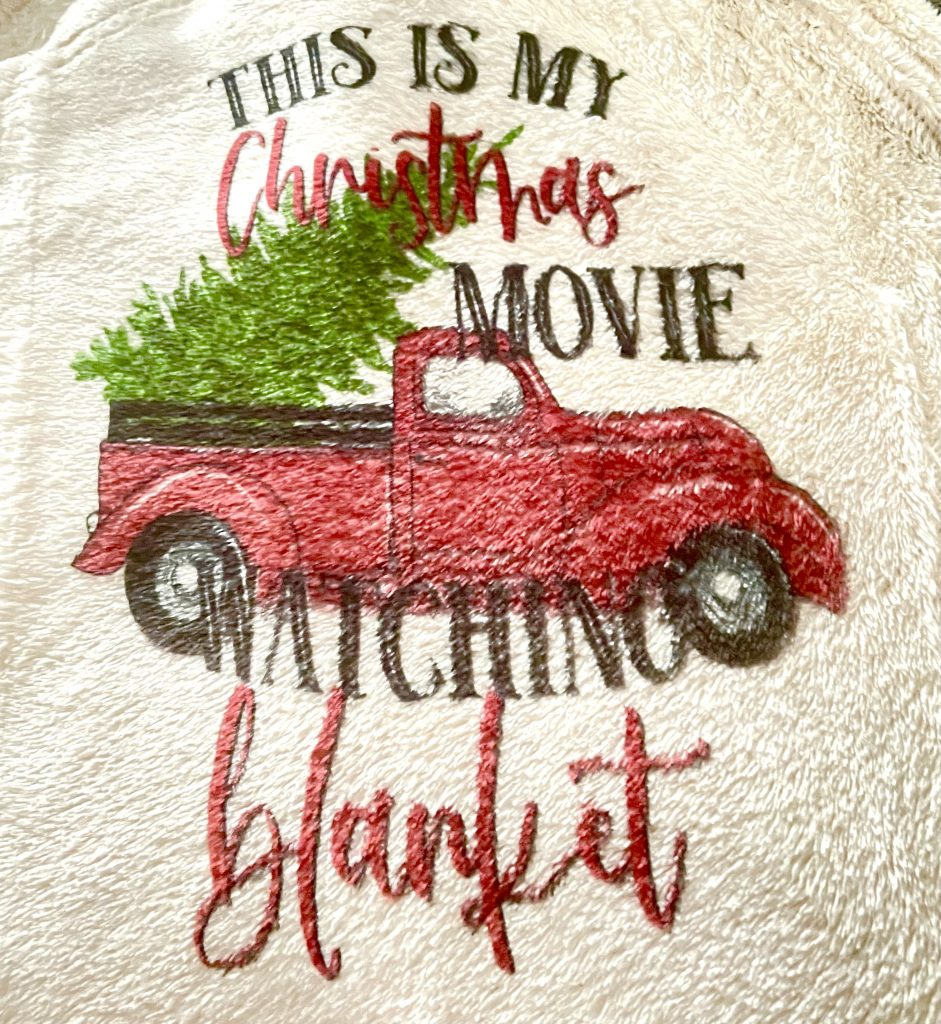 Hallmark Movies, Sublimation, Christmas Sublimation, Personalised blanket, hand made gifts, Holiday Gifts, Holiday decor, Christmas Decor. Sublimation Printing